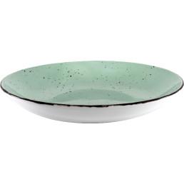 "Porzellanserie ""Granja"" mint Teller tief Coup-Form, 26 cm"