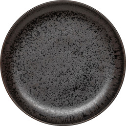 "Porzellanserie ""Ebony"" Teller flach rund Ø20,2cm"