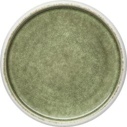"Porzellan Serie ""Samoa"" grün Teller flach Ø26cm"