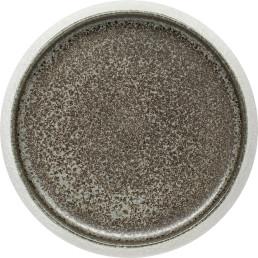 """Porzellan Serie """"Samoa"""" grau Teller flach Ø19cm"""