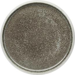 """Porzellan Serie """"Samoa"""" grau Teller flach Ø23cm"""