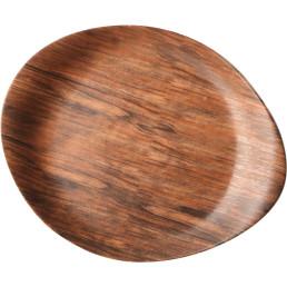 """Porzellanserie """"Wood Design"""" Alumina  Teller 26x21 cm"""
