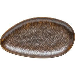 """Porzellanserie """"Rusty"""" Platte flach oval 38x21cm"""