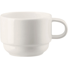 "Porzellanserie Bone China ""NEVE"" Tasse obere Kaffee 0,18L"