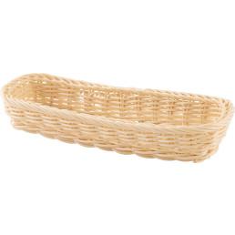 Korb Besteck rechteckig 27x11x4,5cm beige