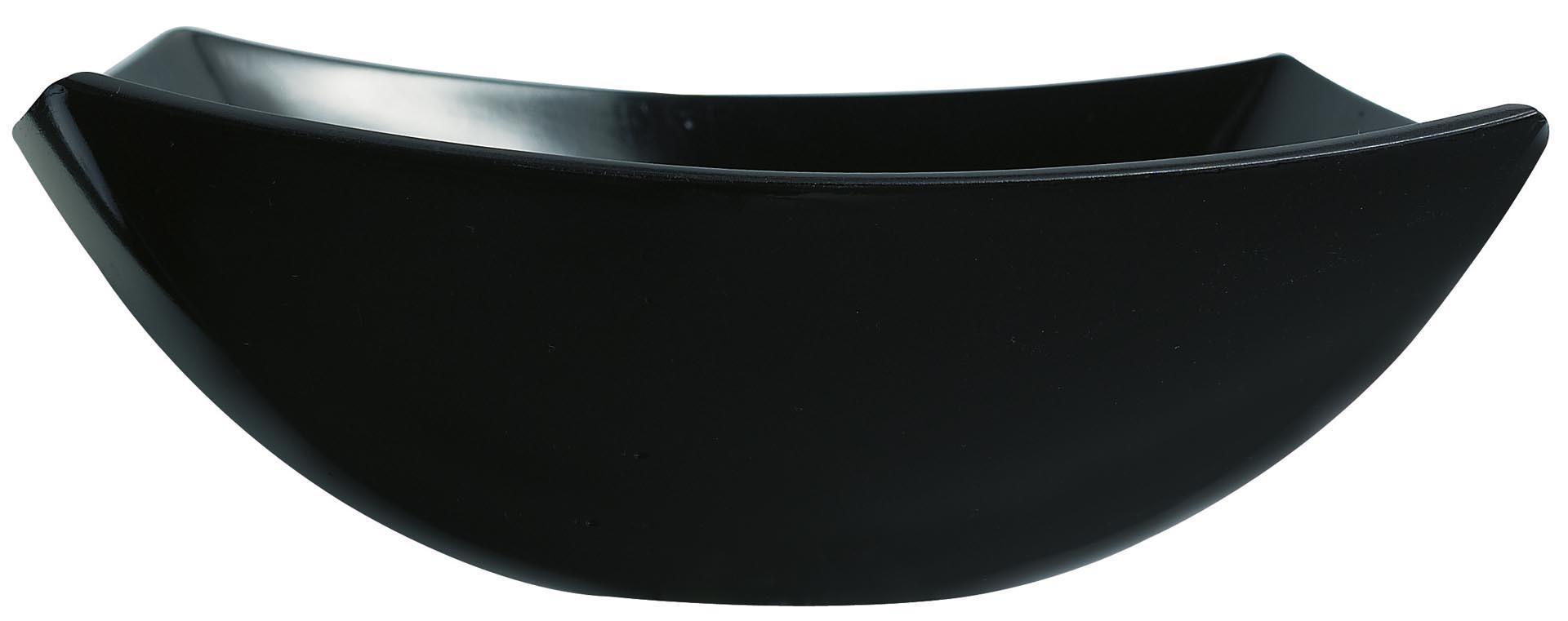 "Hartglas-Schale ""Quadrato"" schwarz 24 x 24 cm"