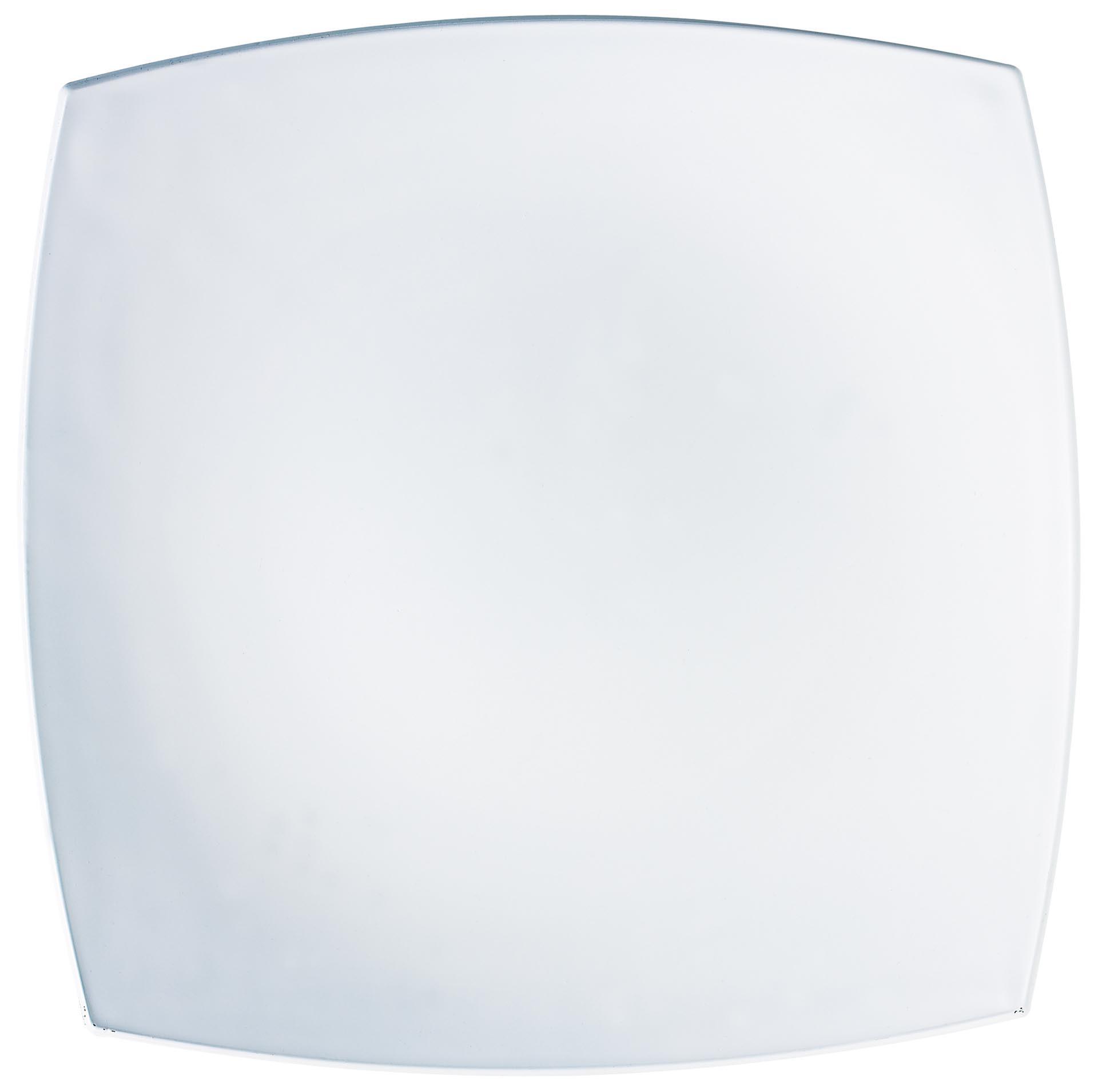 "Hartglas-Teller ""Quadrato"" weiß 27 x 27 cm"