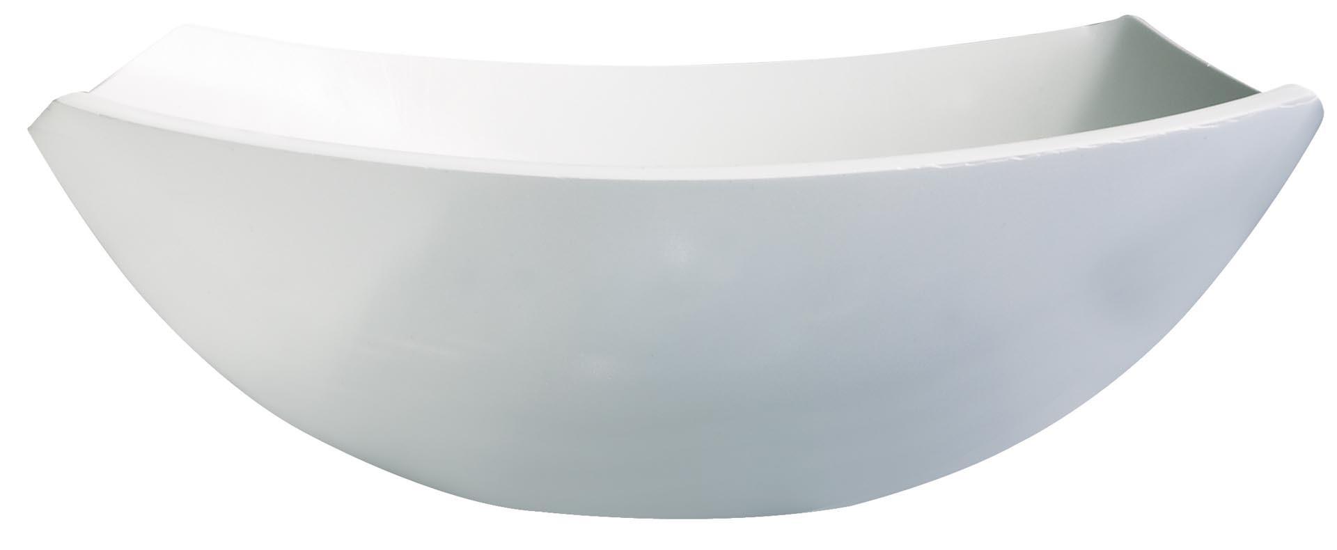 """Hartglas-Schale """"Quadrato"""" weiß 14 x 14 cm"""