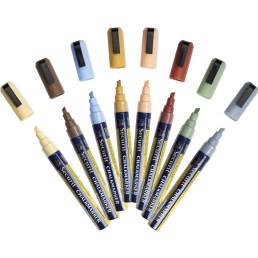 Kreidemarker-Set erdfarben