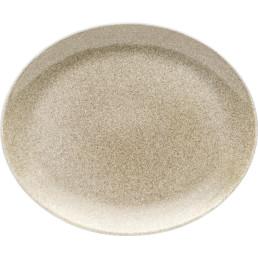 "Porzellanserie ""Shine"" Sahara Platte flach oval, 31x25,5cm"