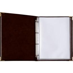 Speisekarte Metallecken gold A4 weinrot