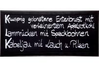 Wandtafel mit Rahmen schwarz