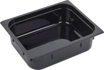 GN Behälter 1/2 Polycarbonat schwarz T: 100mm, 7,2L
