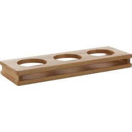 """Display """"Wood"""" 3 Aussparungen ø 13 cm"""