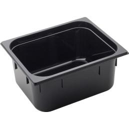 GN Behälter 1/2 Polycarbonat schwarz T: 150mm, 10,8L