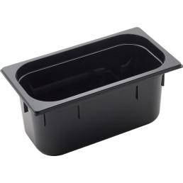 GN Behälter 1/3 Polycarbonat schwarz T: 150mm, 6,8L