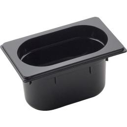 GN Behälter 1/9 Polycarbonat schwarz T: 100 mm 1,3 l