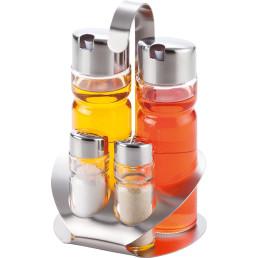 Menagen-Set Salz & Pfeffer & Essig & Öl