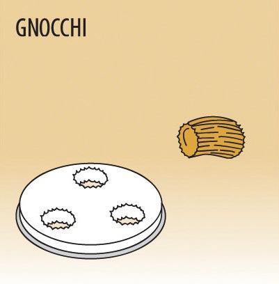Matrize Gnocchi, für Nudelmaschine 516002 bis 516004