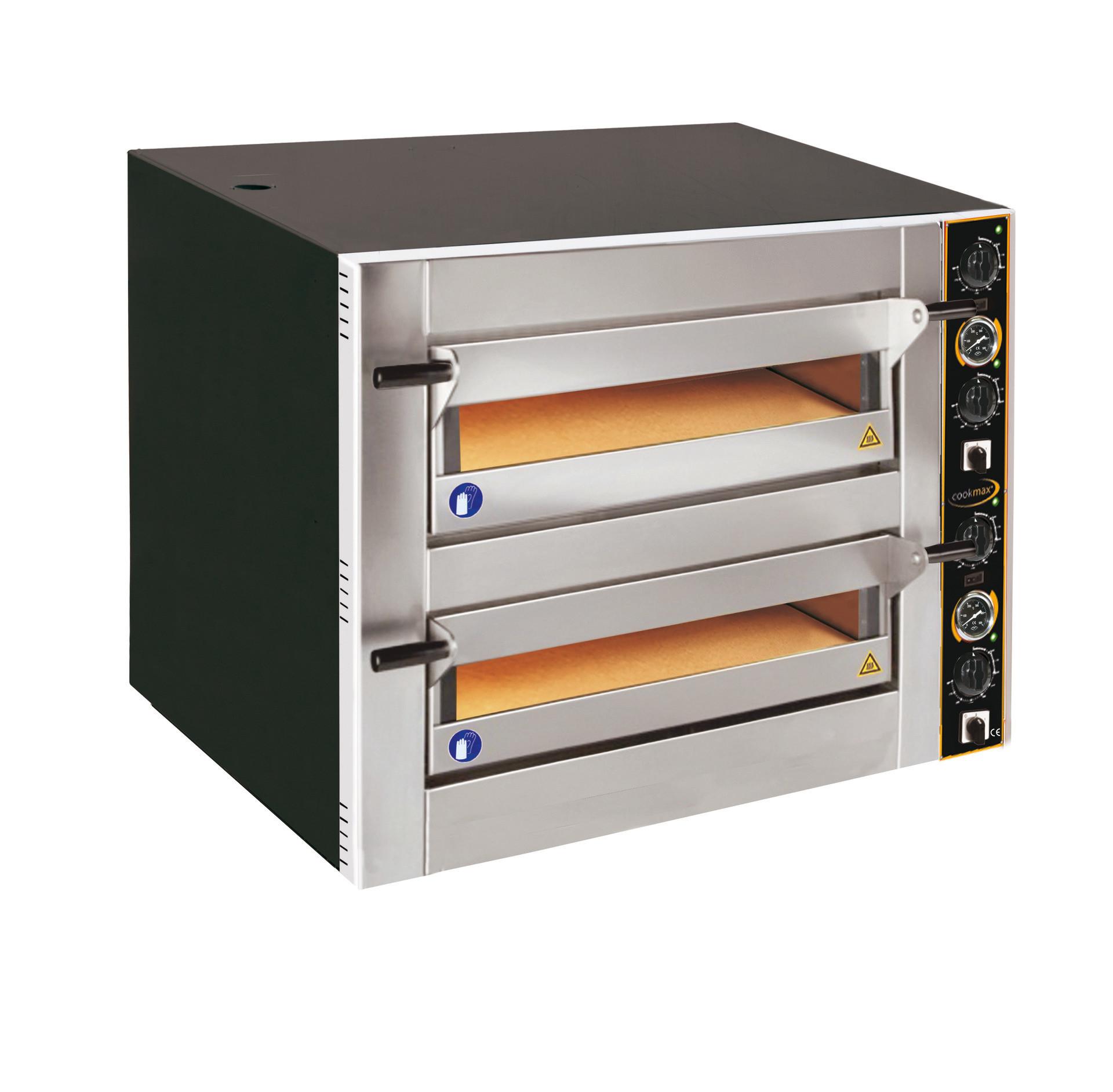 Pizzaofen, 2 Backkammern für 12 Pizzen ø 300 mm, inkl. Sicherheitsschütze