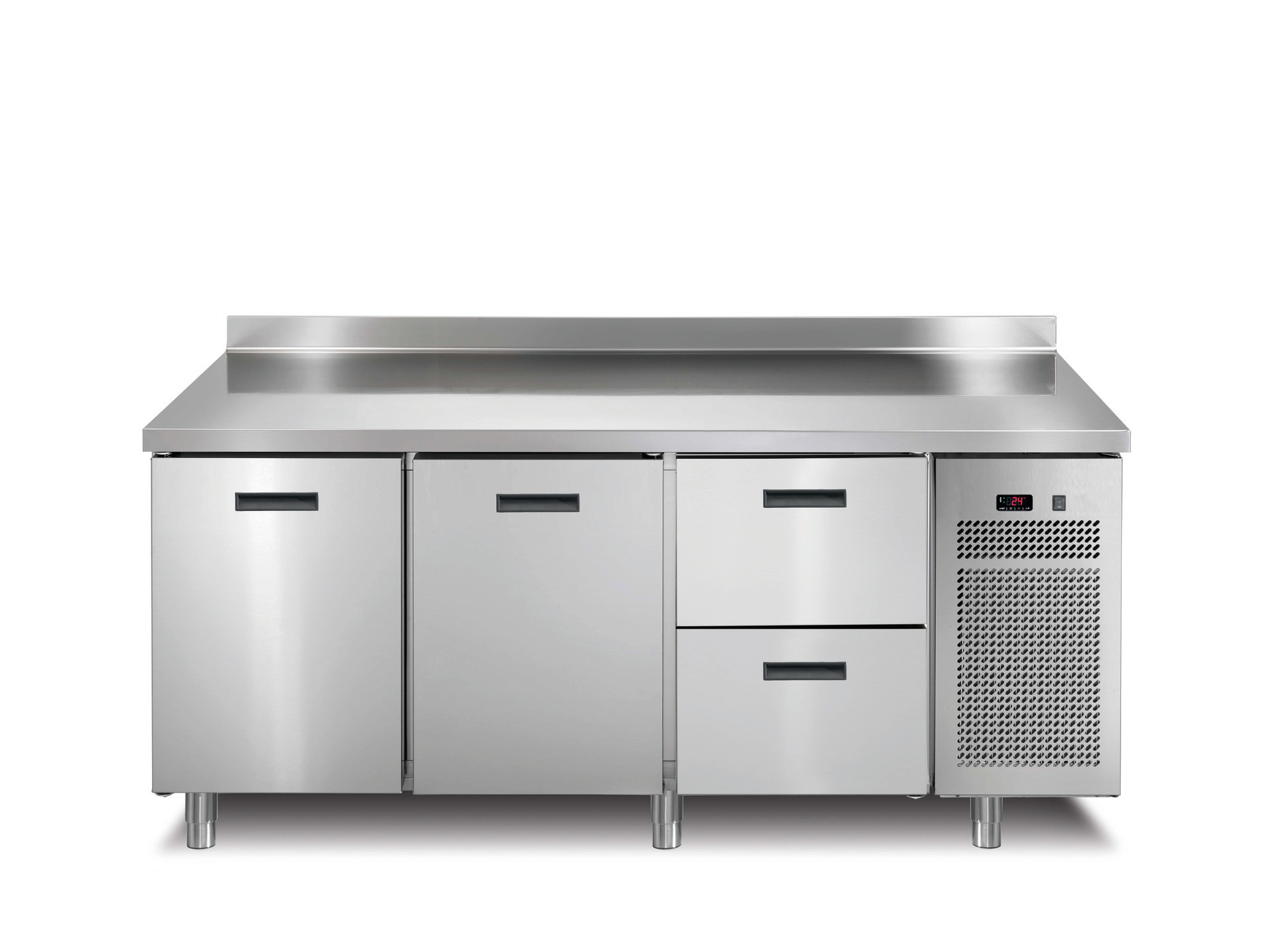 Tiefkühltisch 2 Türen 2 Schubladen mit 50 mm Aufkantung 1721 x 700 x 850 mm