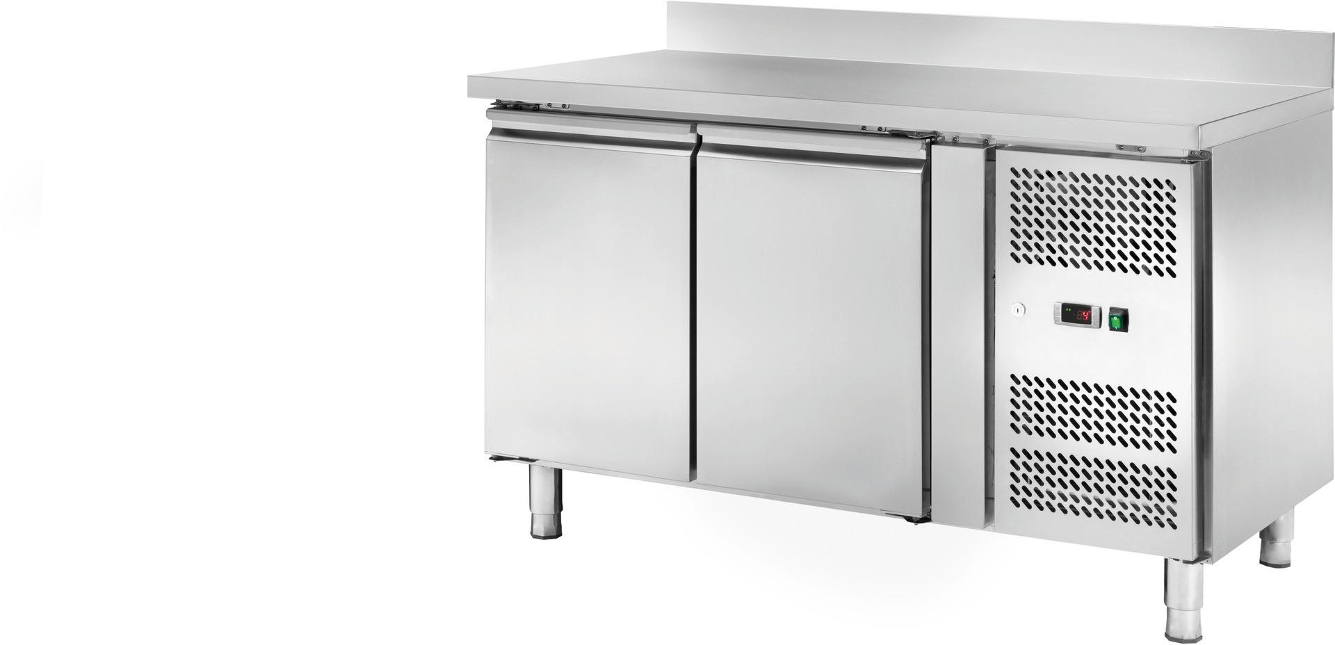 Kühltisch 282 l GN 1/1 mit 100 mm Aufkantung, 2 Türen