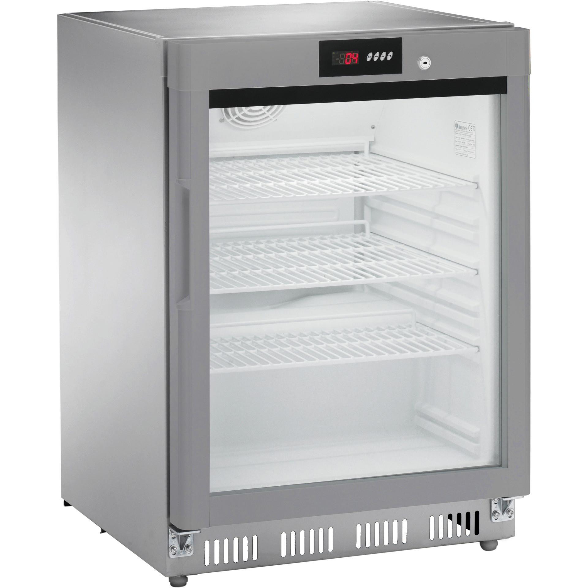 Kühlschrank Edelstahl 140 l 600 x 600 x 855 mm