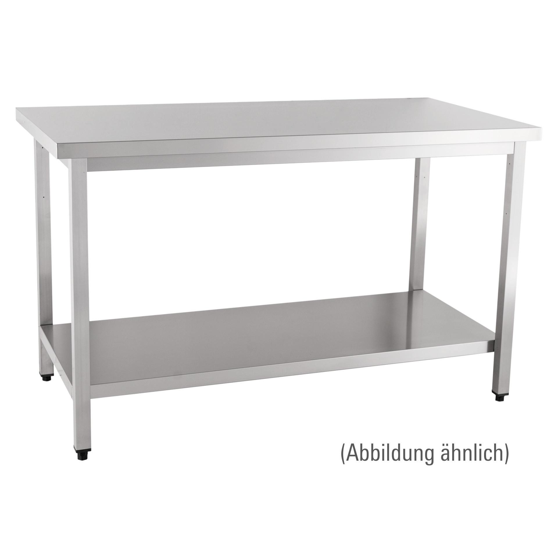 Arbeitstisch zur Selbstmontage mit Boden ohne Aufkantung 1600 x 700 x 850 mm