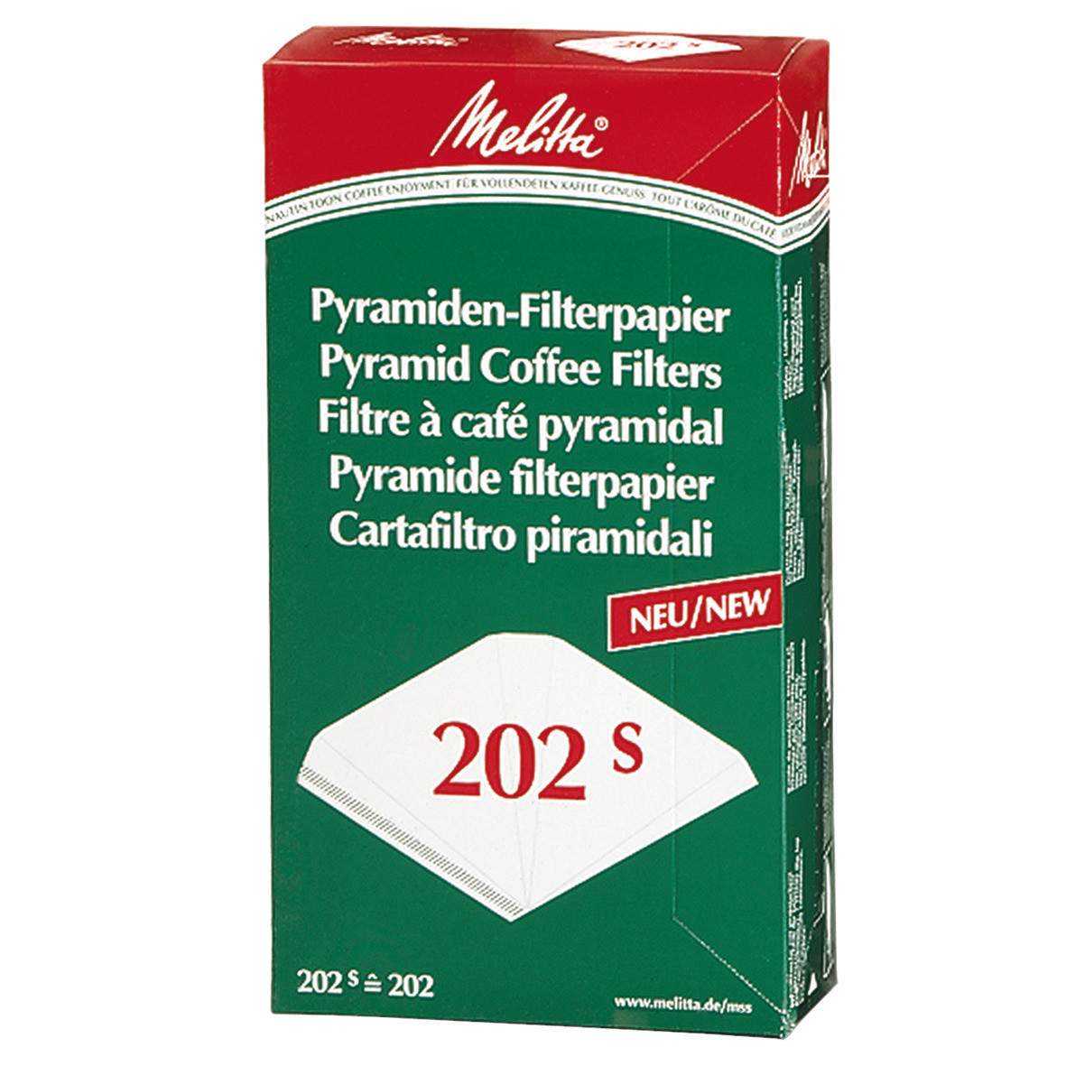 Filterpapier für Kaffeemaschinen Pa SF 202 S, 100 ST