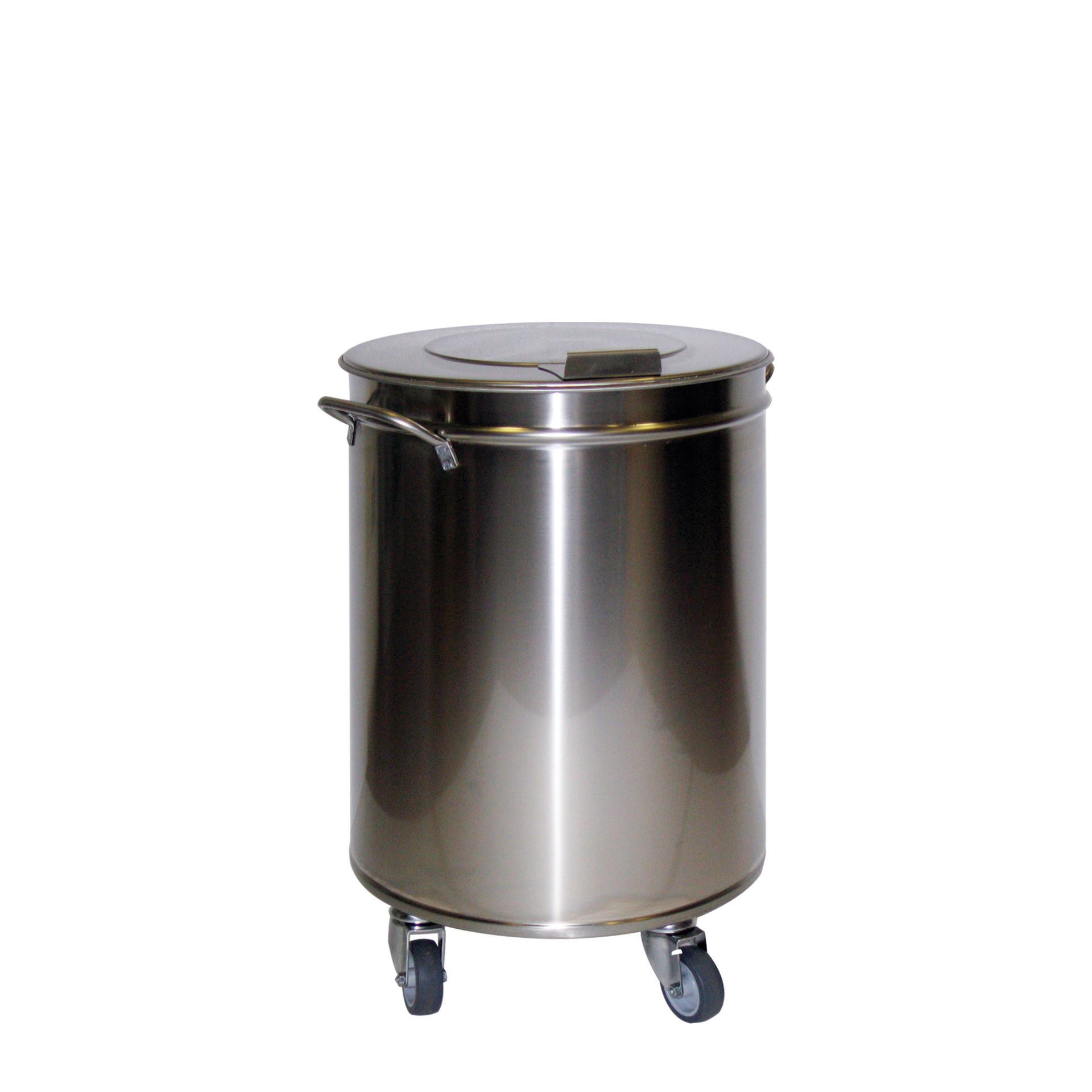 Abfalleimer 50 l ø 380 mm mit Deckel 380 x 380 x 605 mm