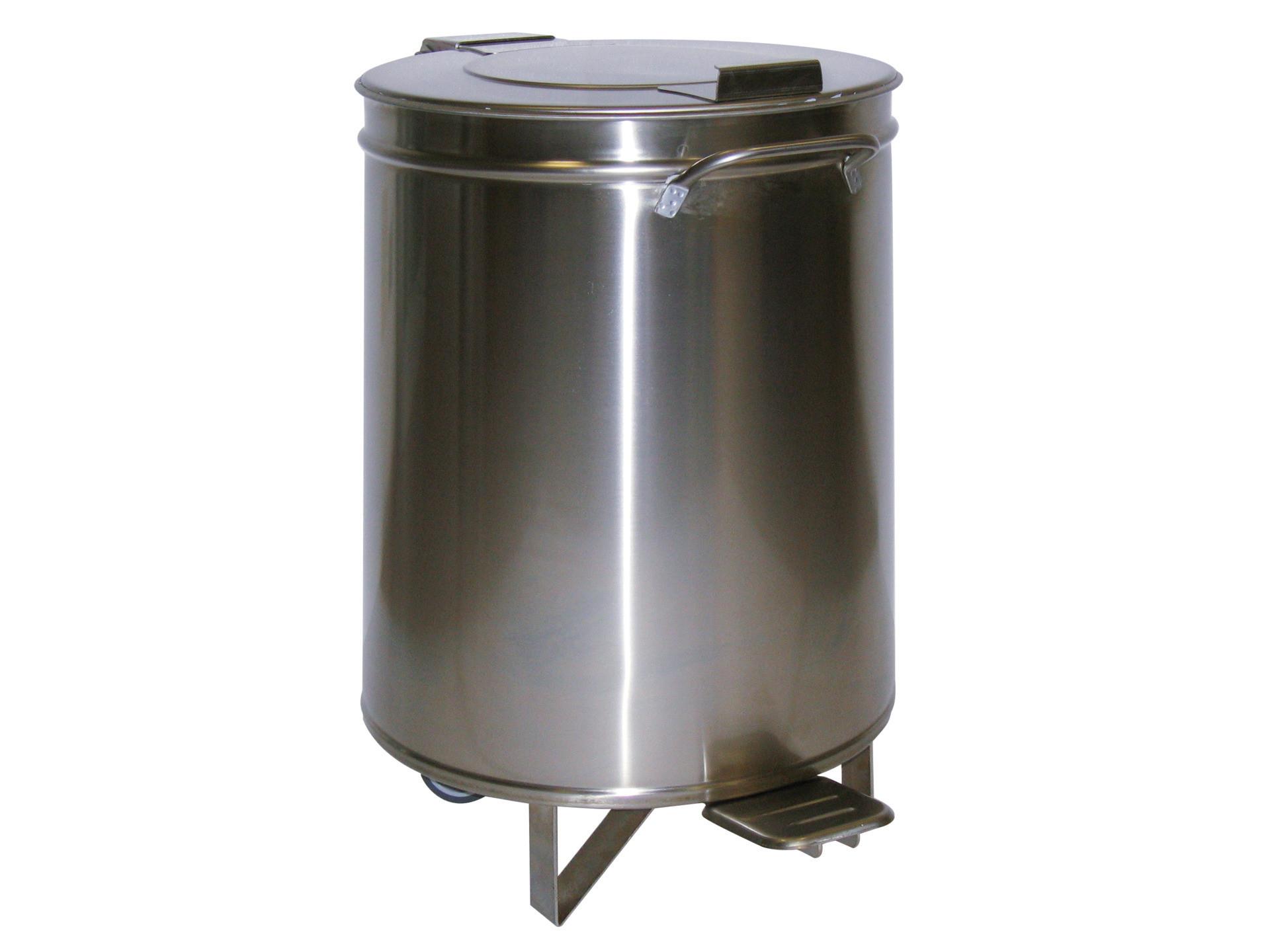 Abfalleimer 95 l ø 450 mm mit Fußpedal und Hub-Deckel 450 x 450 x 685 mm