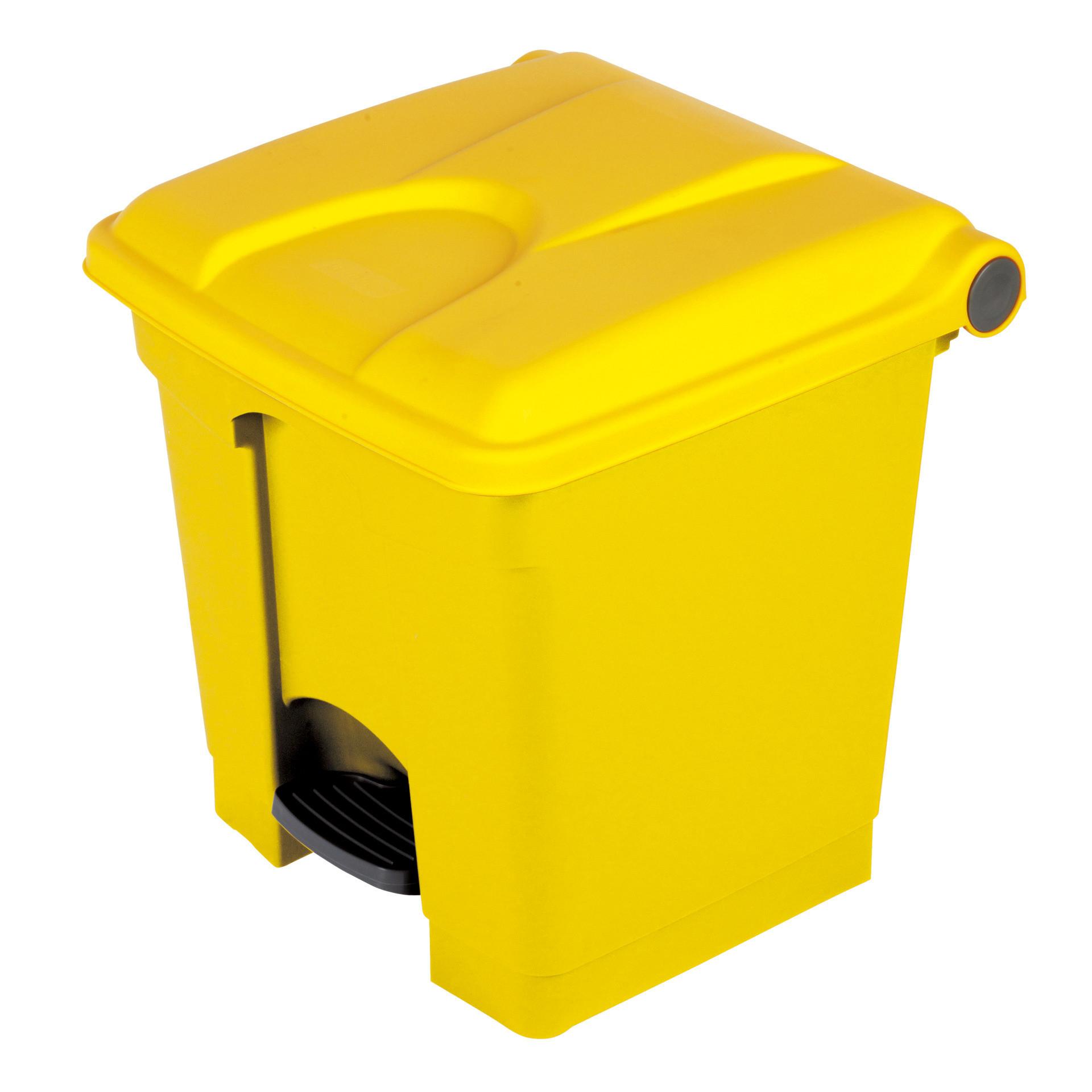 Treteimer 70 l rechteckig gelb / gelb 412 x 495 x 673 mm