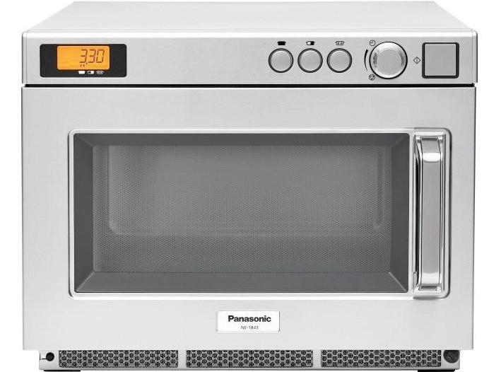 Panasonic-Mikrowelle NE-1843 1800 W 18 l mit Drehknopf 422 x 508 x 337 mm
