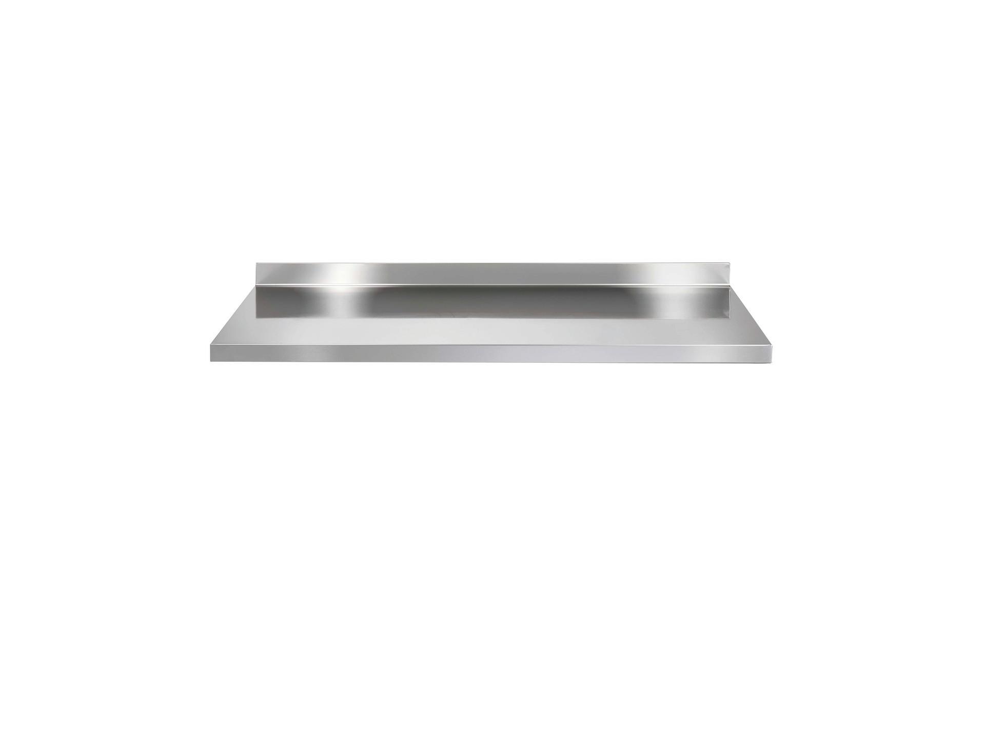 Arbeitsplatte f. Kühltisch 1260 x 700 mm mit 50 mm Aufkantung