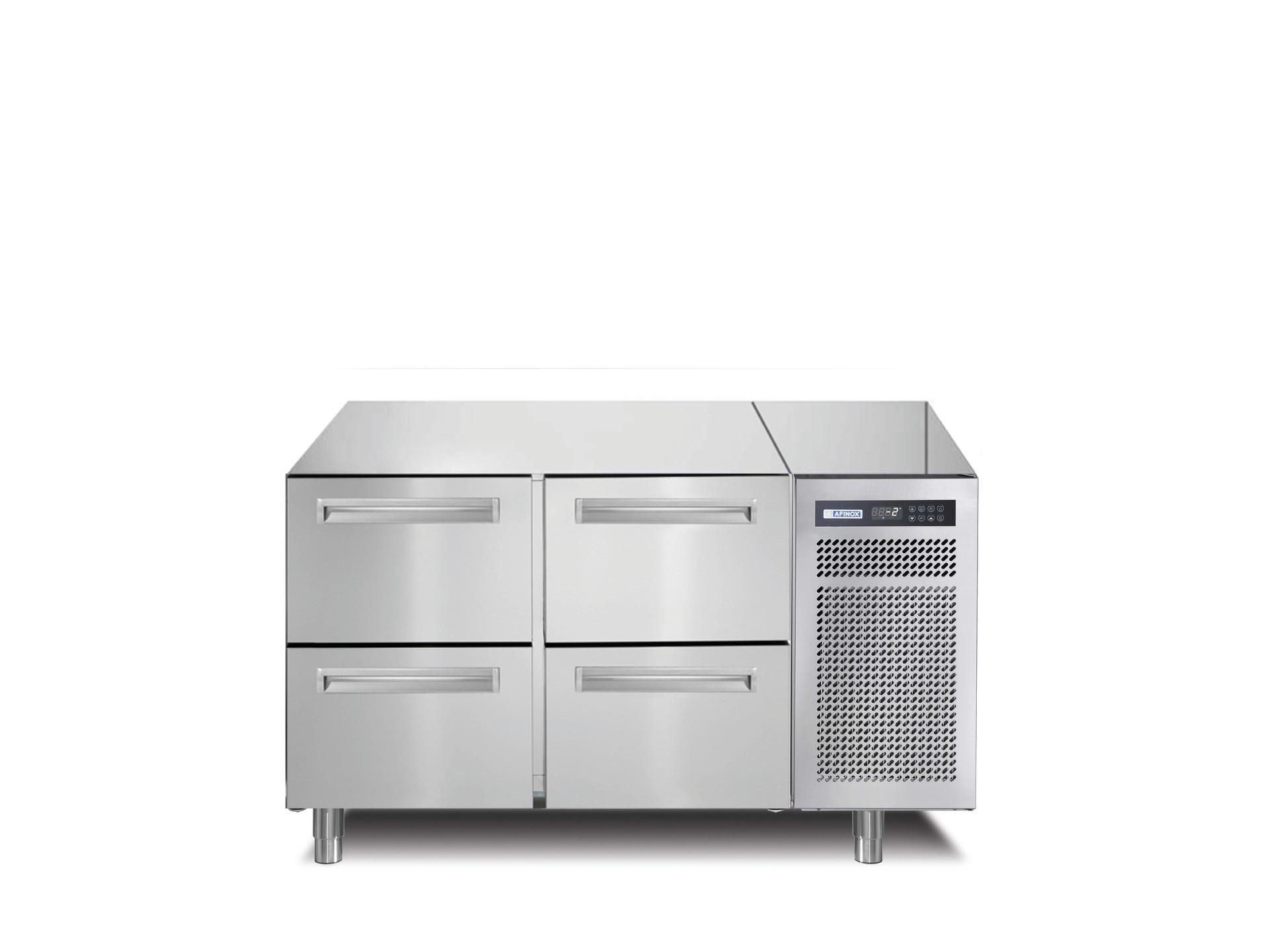 Kühltisch 168 l GN 1/1 4 Schubladen 1260 x 700 x 800