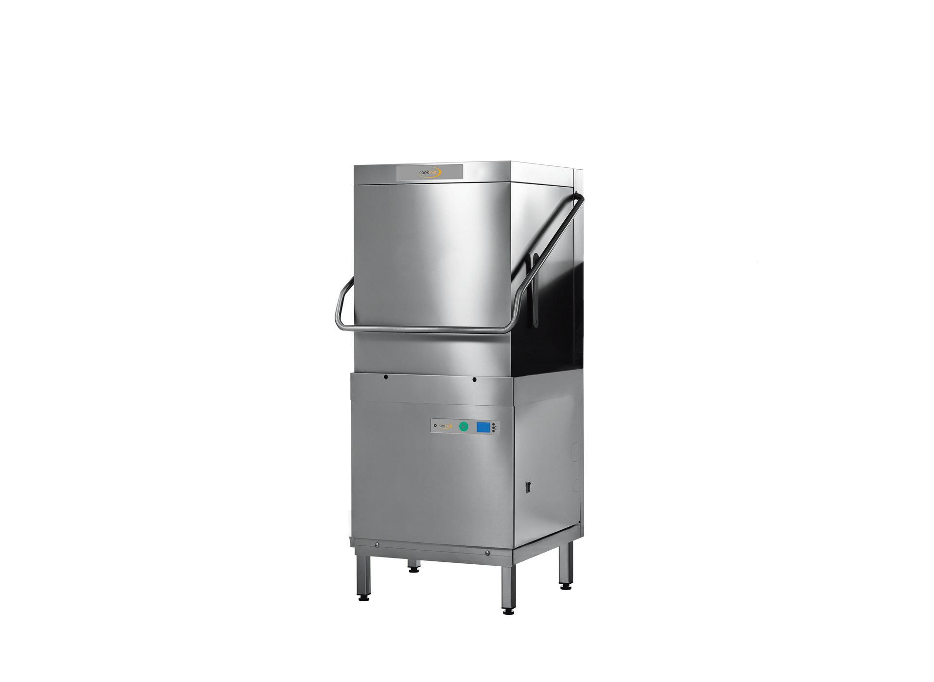 Hauben-Spülmaschine mit Reinigerdosierer und Klarspüldosierer
