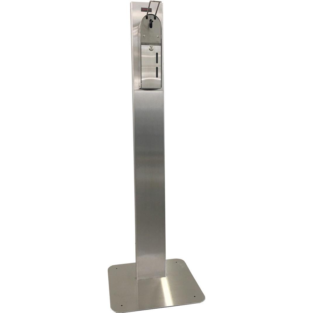 Standfuß mit Bodenplatte für Art. 90853003, Edelstahl
