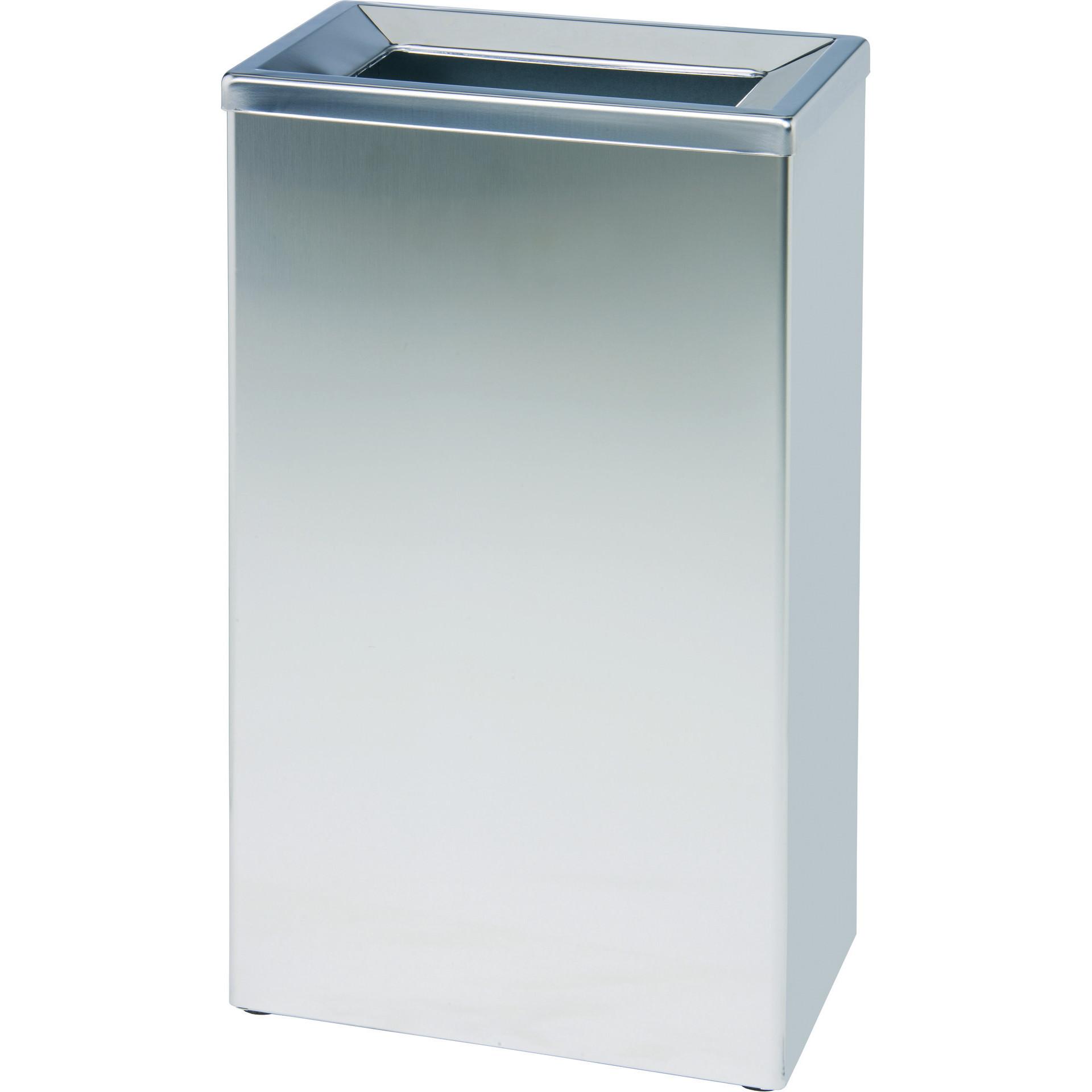 Abfallbehälter, 25 l, Edelstahl matt