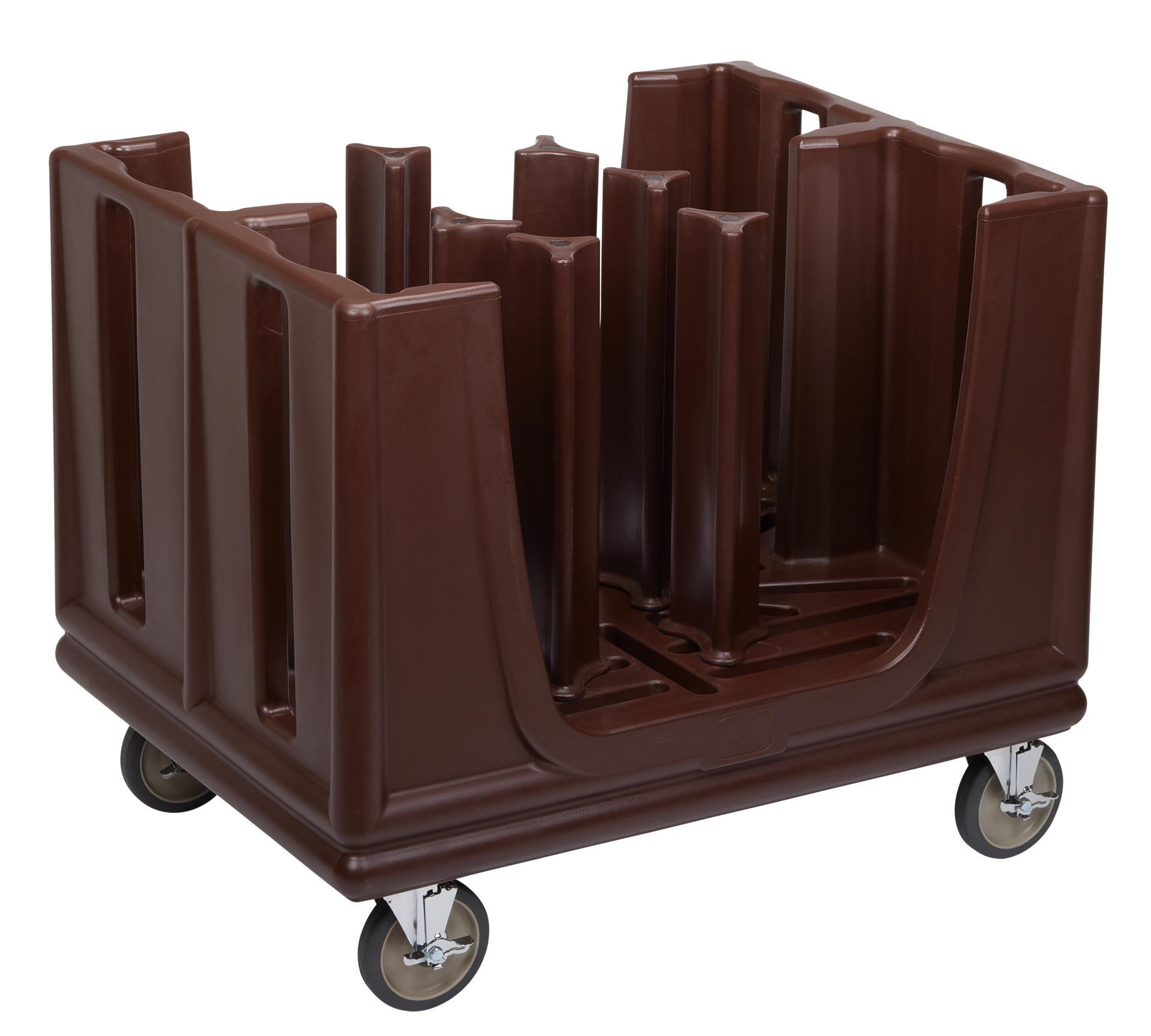 Tellertransportwagen, 6-fach, verstellbar, braun, by Cambro