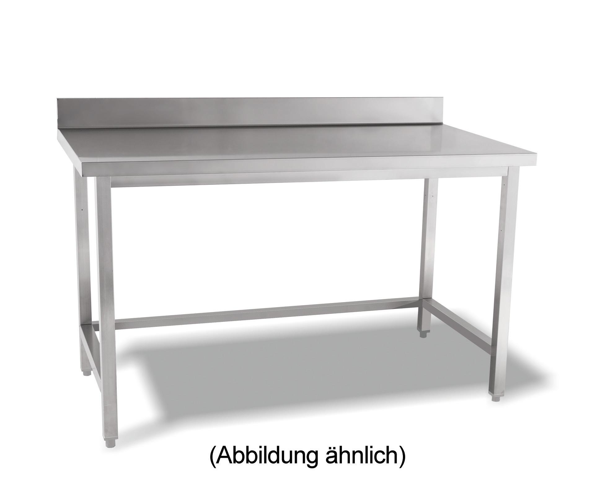 Arbeitstisch verschweißt o. Ablageboden mit 50 mm Aufkantung 1400 x 700 x 850 mm