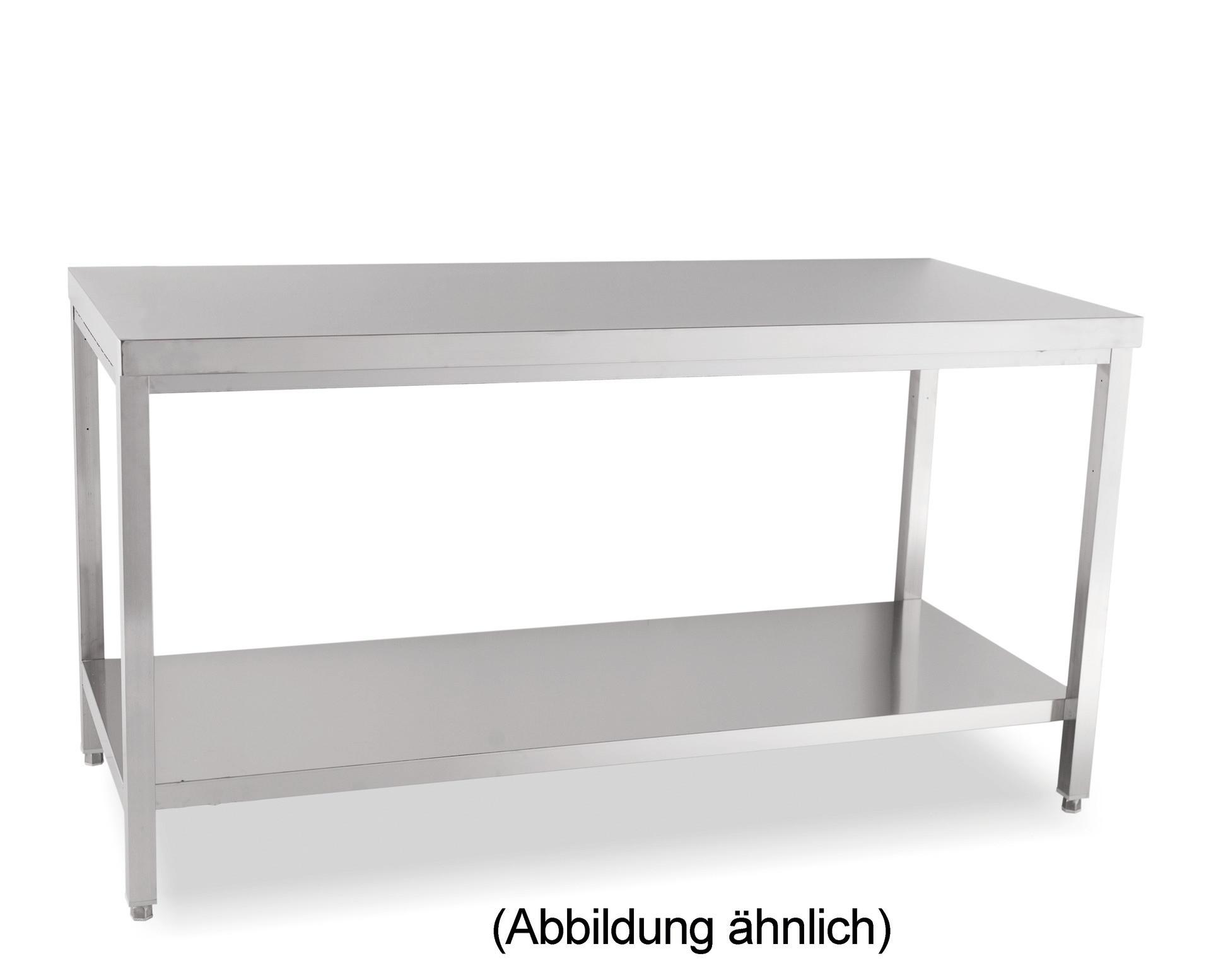 Arbeitstisch verschweißt mit Ablageboden ohne Aufkantung 1100 x 600 x 850 mm