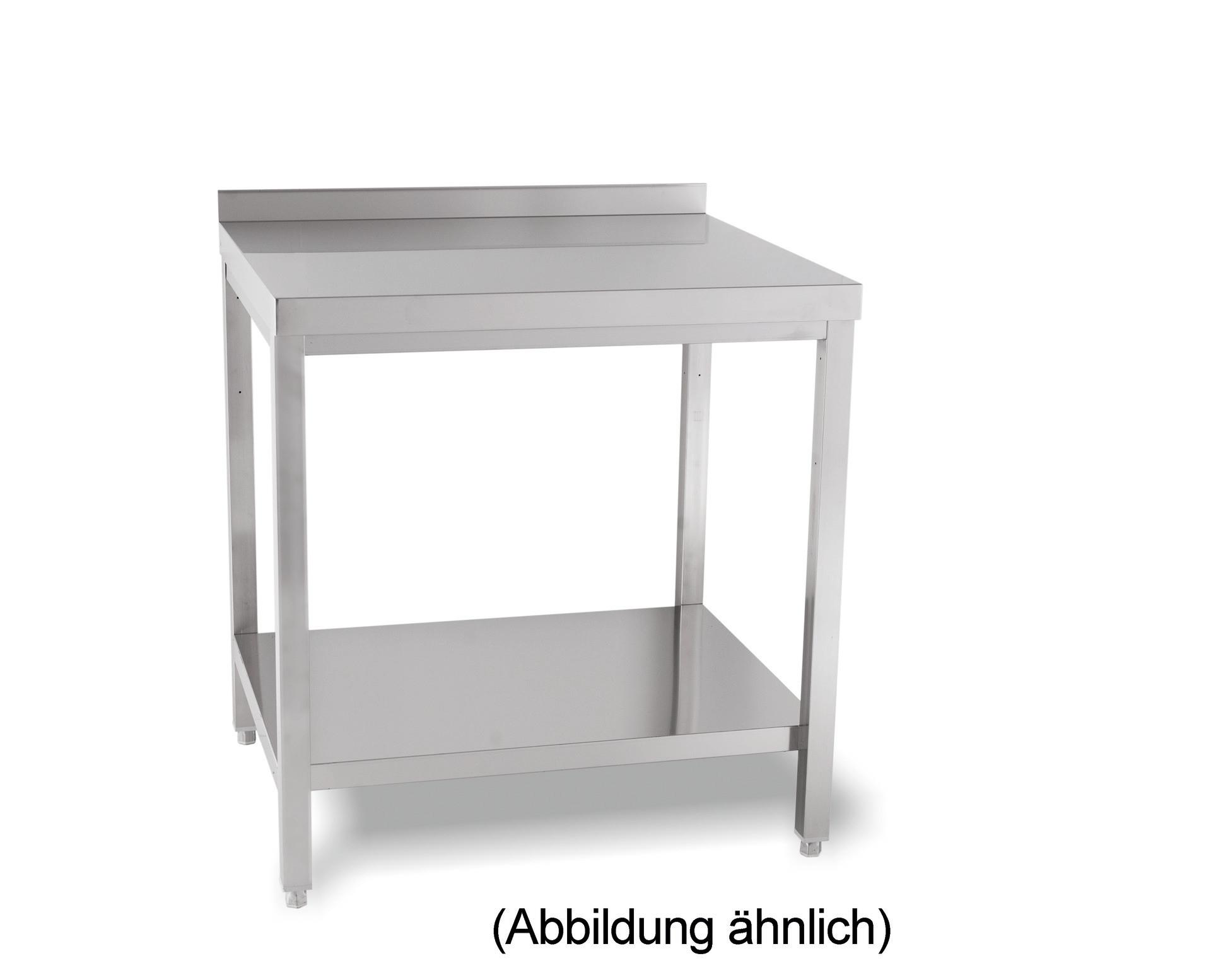Arbeitstisch verschweißt mit Ablageboden mit 50 mm Aufkantung 1200 x 600 x 850 mm