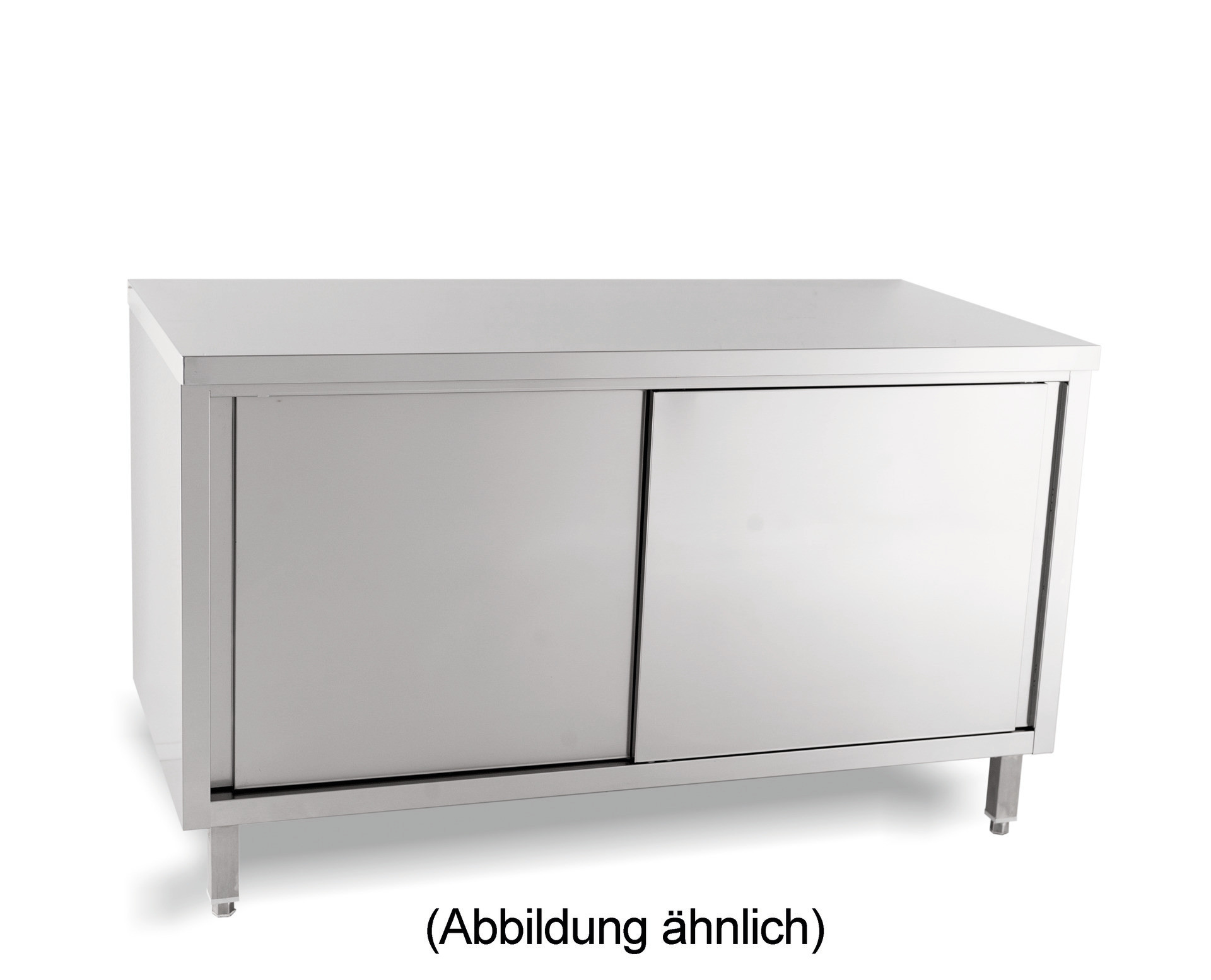 Arbeitsschrank mit Schiebetüren ohne Aufkantung 1000 x 700 x 850 mm