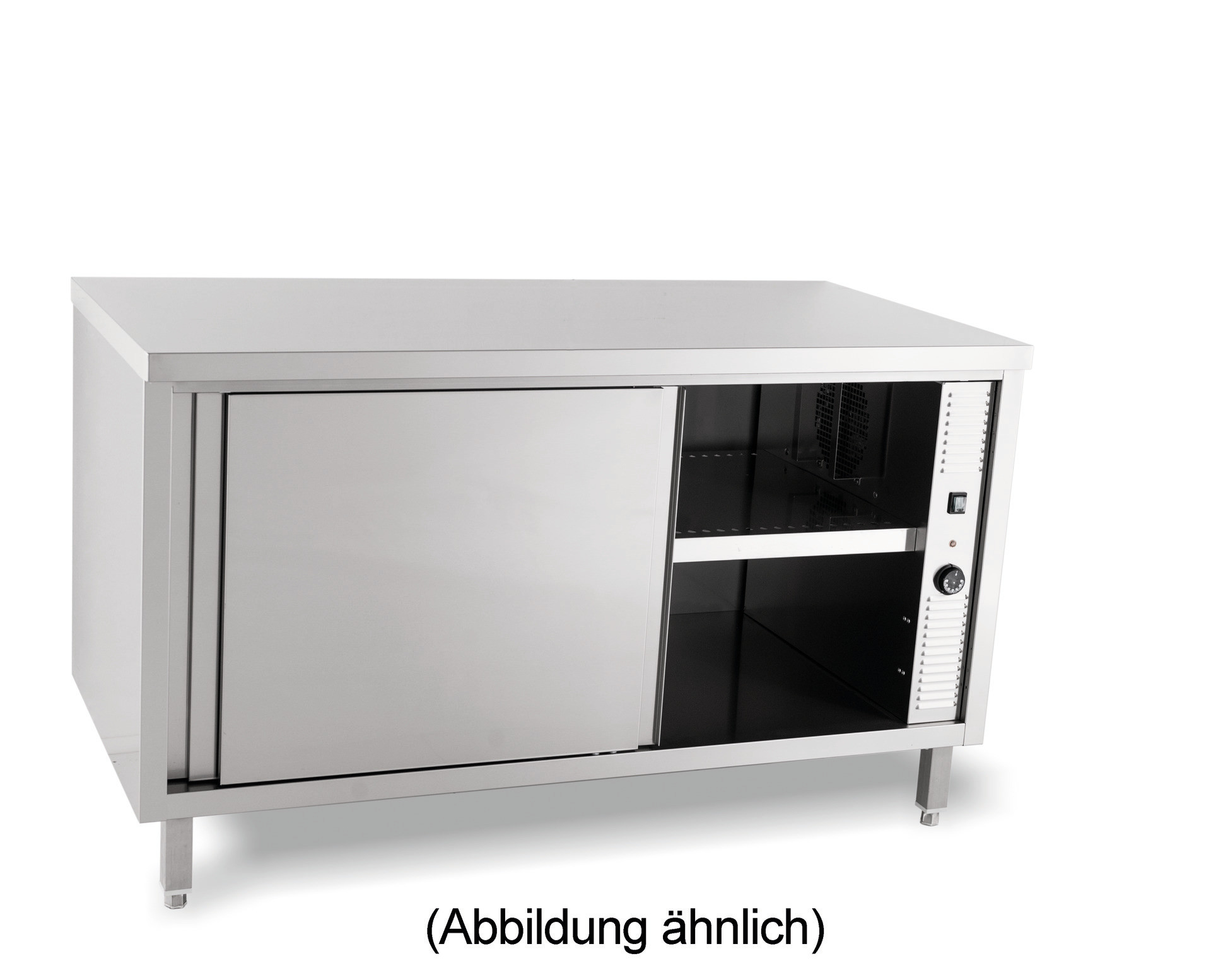 Durchreicheschrank beheizt Schiebetüren ohne Aufkantung 2000 x 600 x 850 mm