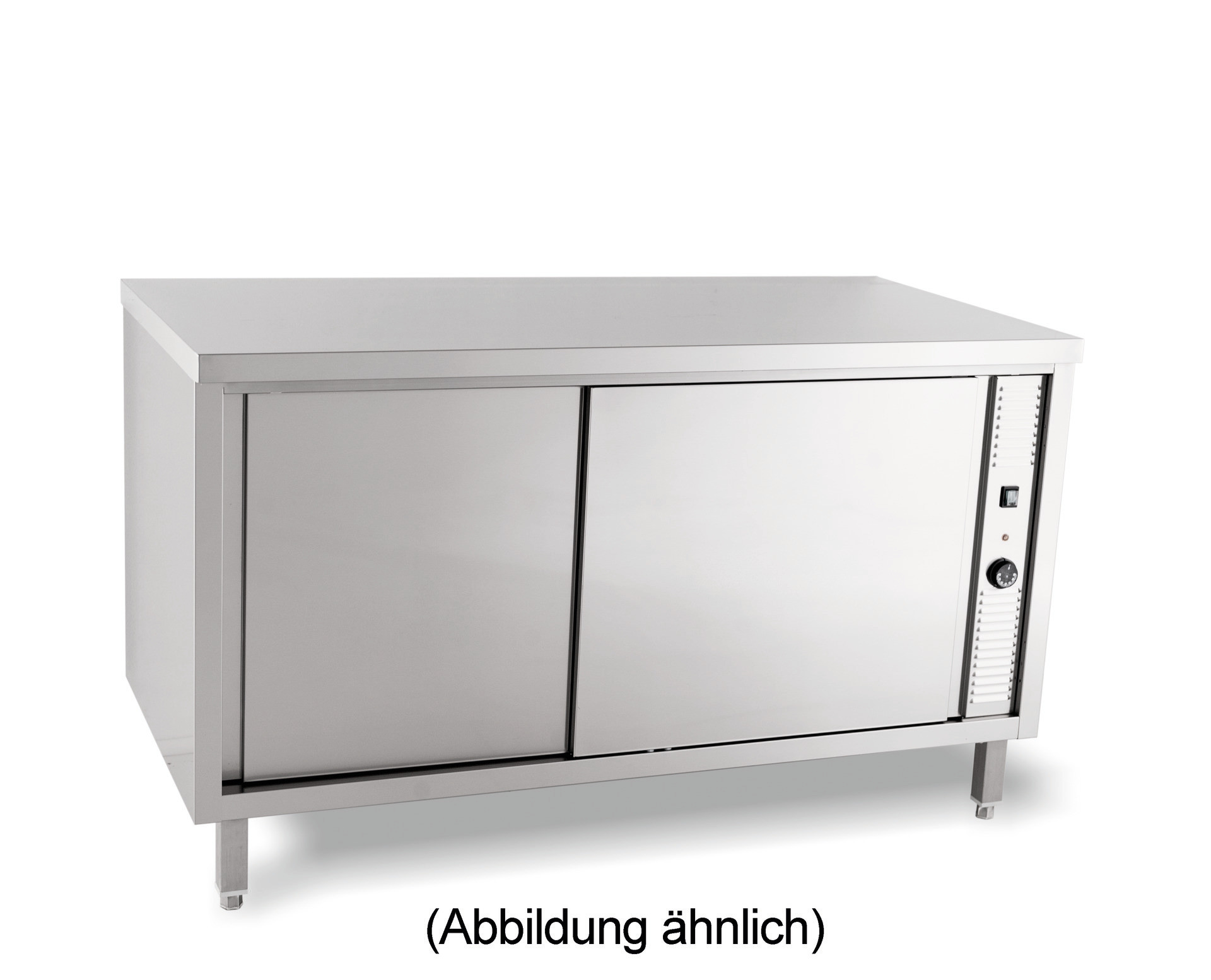 Wärmeschrank mit Schiebetüren ohne Aufkantung 1400 x 700 x 850 mm