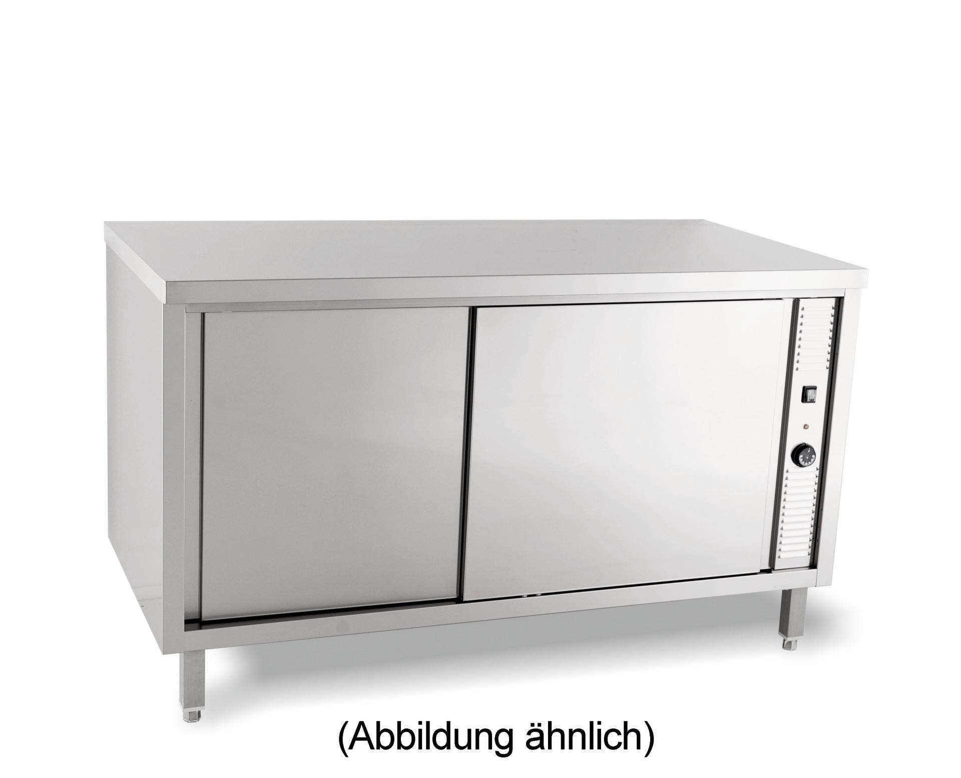 Wärmeschrank mit Schiebetüren ohne Aufkantung 1600 x 700 x 850 mm