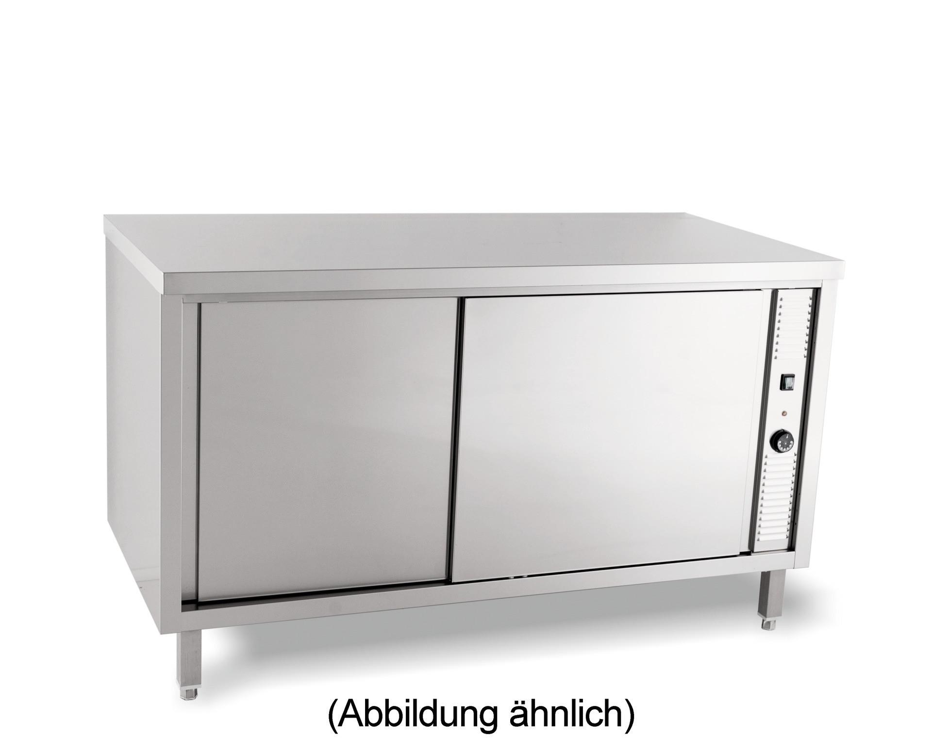 Wärmeschrank mit Flügeltüren ohne Aufkantung 1200 x 700 x 850 mm