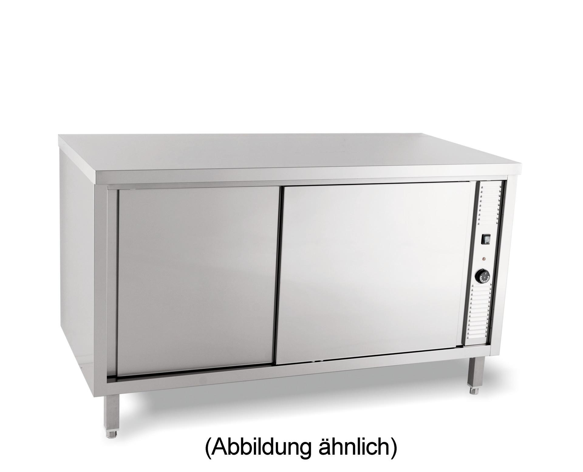 Wärmeschrank mit Flügeltüren ohne Aufkantung 1200 x 600 x 850 mm