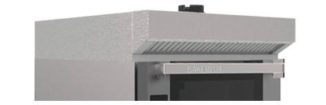 Dunstabzugshaube ohne Wasseranschluss für Heißluftöfen 460 x 330 TOUCH, GO