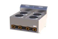 Elektro-Kochfläche 4 Platten 660 x 600 x 290 mm
